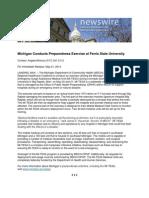 Michigan Conducts Preparedness Exercise at Ferris State University