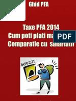 Taxe Si Impozite PFA 2014