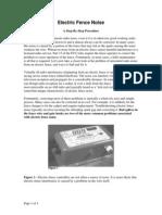 Electric Fence Procedure