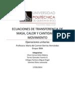 Transferencia de Cantidad de Movimiento