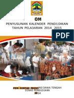 Kalender Pendidikan Tahun Pelajaran 2014 2015 Jawa Tengah