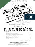 IMSLP14136-Albeniz - San Antonio de La Florida Zarzuela en Un Acto Vocal Score