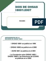 Actualización OHSAS 18001