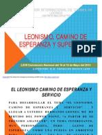 Leonismo, Camino de Esperanza y superación 2014