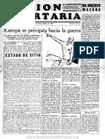 Acción Libertaria, Nº7. Agosto1934