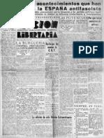 Acción Libertaria, Número Extraordinario. Mayo 1937