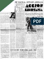 Acción Libertaria. Nº 31. Abril 1938