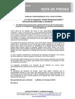 NP. 042-14 Avanzan Los Trabajos Del Tramo II de La Megaobra Costa Verde Para Todos Con Seis Puentes Peatonales y Escaleras
