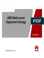 UMTS Multi-carrier Deployment Strategy for XXX