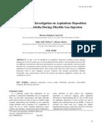Asphaltene Deposition During Miscible Gas Injection