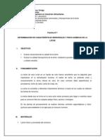 Determinación de Características Sensoriales y Fisico-químicas de La Leche