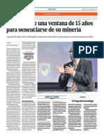 Perú Tiene Ventaja de 15 Años Para Beneficiarse de Minería_El Comercio 21-05-2014