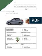 Evaluación Diagnóstica de Ciencias Naturales Tercero Básico 2013