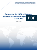 IDPC Response to UNODC World Drug Report 2012 SPANISH
