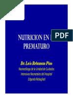 Retamozo - Nutrición en El Prematuro
