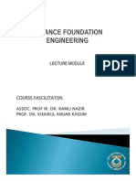 Advanced Foundation Design Module