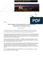 The Paradigm of Securing Borders and Harnessing Transnational Organized Crime