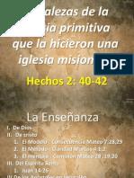 Fortalezas de La Iglesia Primitiva