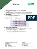 Original Detector Tubes Sheet