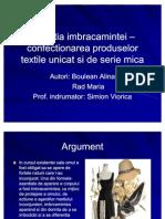 78401525 Evolutia Imbracamintei OCo Confectionarea Produselor Textile Unicat Si