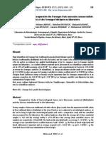 Étude Bactériologique Comparative Des Fromages Frais Marocains Commercialisés