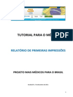 Tutorial Relatorio de Primeiras Impressoes - Medico Supervisionado