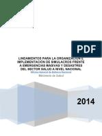 Lineamientos Para Simulacros Sector Salud 2014