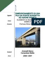 Ingegneria Civile Uniroma3 - III Anno - Dimensionamento di una pila da ponte