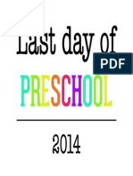 Last Day of School Sign by anna and blue paperie
