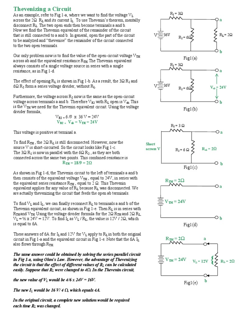 Thevenizing A Circuit Series And Parallel Circuits Electrical Find Equivalent Resistance In This Network