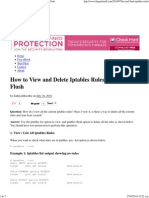 How to View and Delete Iptables Rules – List and Flush