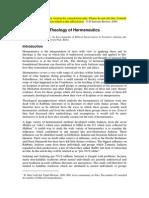 Theology of Hermeneutics (1)