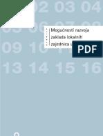 Mogućnosti razvoja zaklada lokalnih zajednica u Hrvatskoj - studija