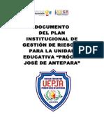 Instructivo Plan Institucional de Gestion de Riesgos Para Centros Educativos