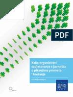 """Priručnik """"Kako organizirati savjetovanje s javnošću o pitanjima prometa i kretanja"""""""