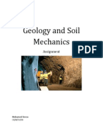 Geology and Soil Mechanics Assignment Introduction