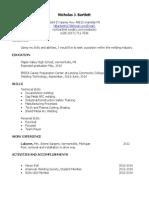 nick bartlett final resume