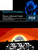 Models of Disability-Imran Ahmad Sajid-M.phil 2nd Semester 14-11-09