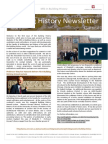Building History Newsletter 1, April 2014