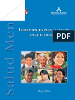 12 Lineamientos para la Acción en Salud Mental - Perú