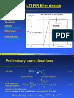 Lecture 11 - FIR Filter Design
