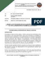 Informe de Aluviales