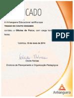 Certificado  Física