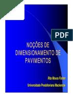 Noções de Dimensionamento de Pavimentos