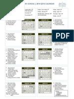 2014.2015 School Calendar