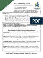 PTA Ballot 2014-2015 (2)