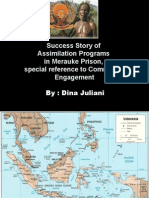 Success Story of Assimilation Programs in Merauke Prison Special Reference to Community Engagement