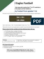 2014 Football Picnic