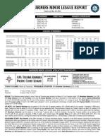 05.21.14 Mariners Minor League Report
