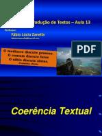 2014-1 Aula13 14 e 15 Coerência e Coesão